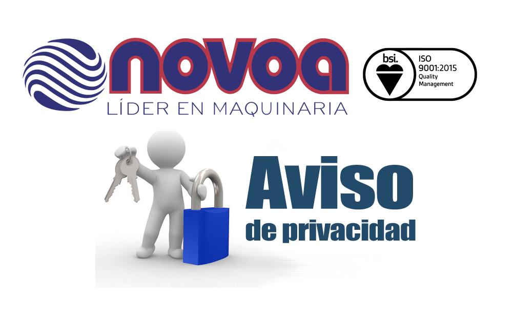 Aviso de privacidad R. Novoa y Cía., S.A. de C.V.