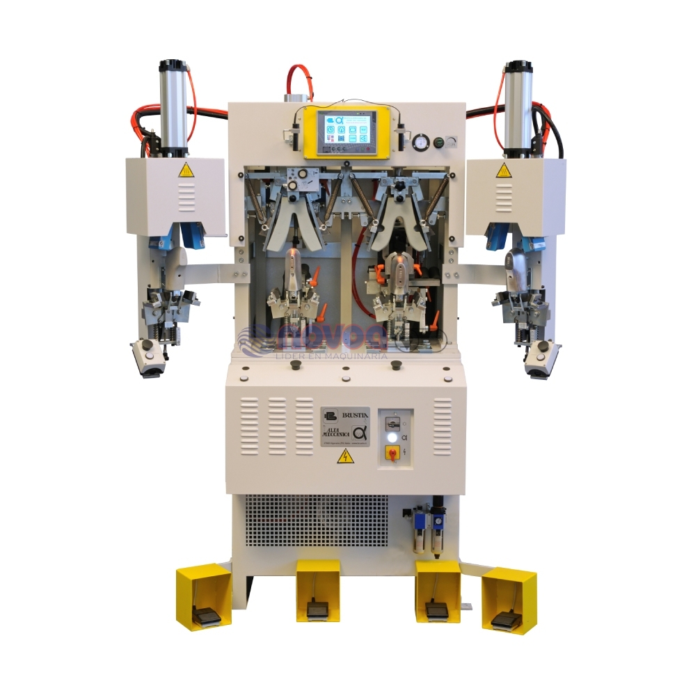 ALFA MECANICA Mod. 684 CF2HP/M. Máquina de conformar talón, cojines duros, 2 frío, 2 calor.