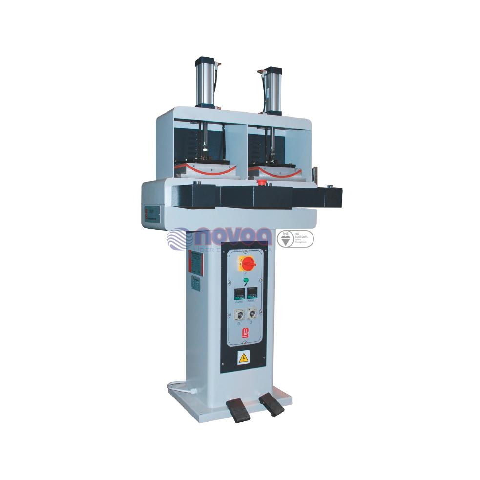 ATOM MB. Aplicadora de tope de termoplástico y conformadora de punta neumática de 2 estaciones TAP/2.