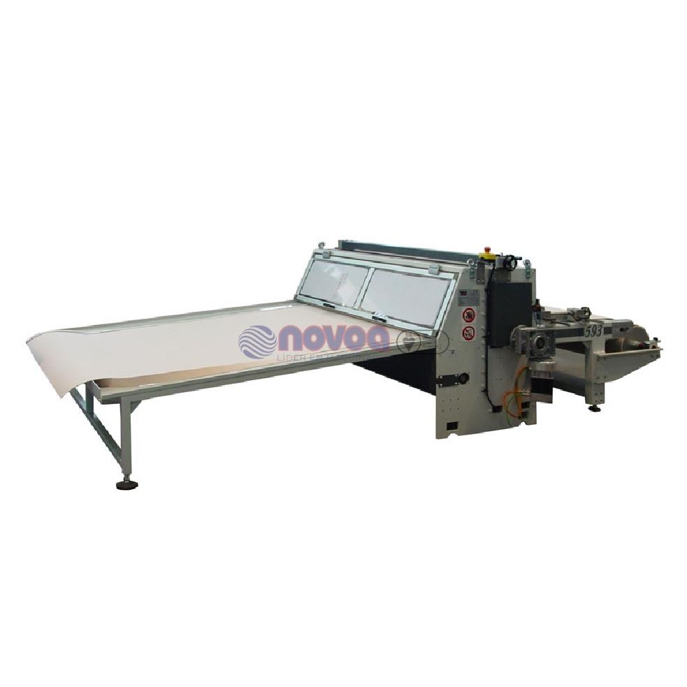 Máquina laminadora con sistema de doble corte.