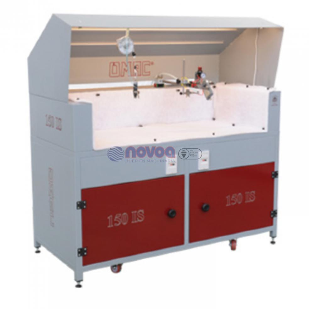 OMAC Mod. LT 200. Máquina automática para el pegamento y que acopla con PLC.