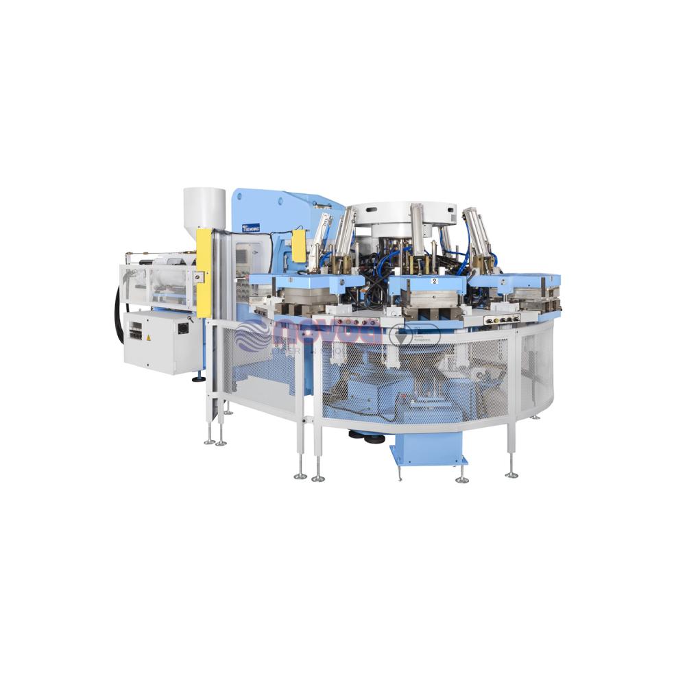 Tienkang TK 832-8S Máquina rotativa de moldeo por inyección de 8 estaciones de TR y PVC.