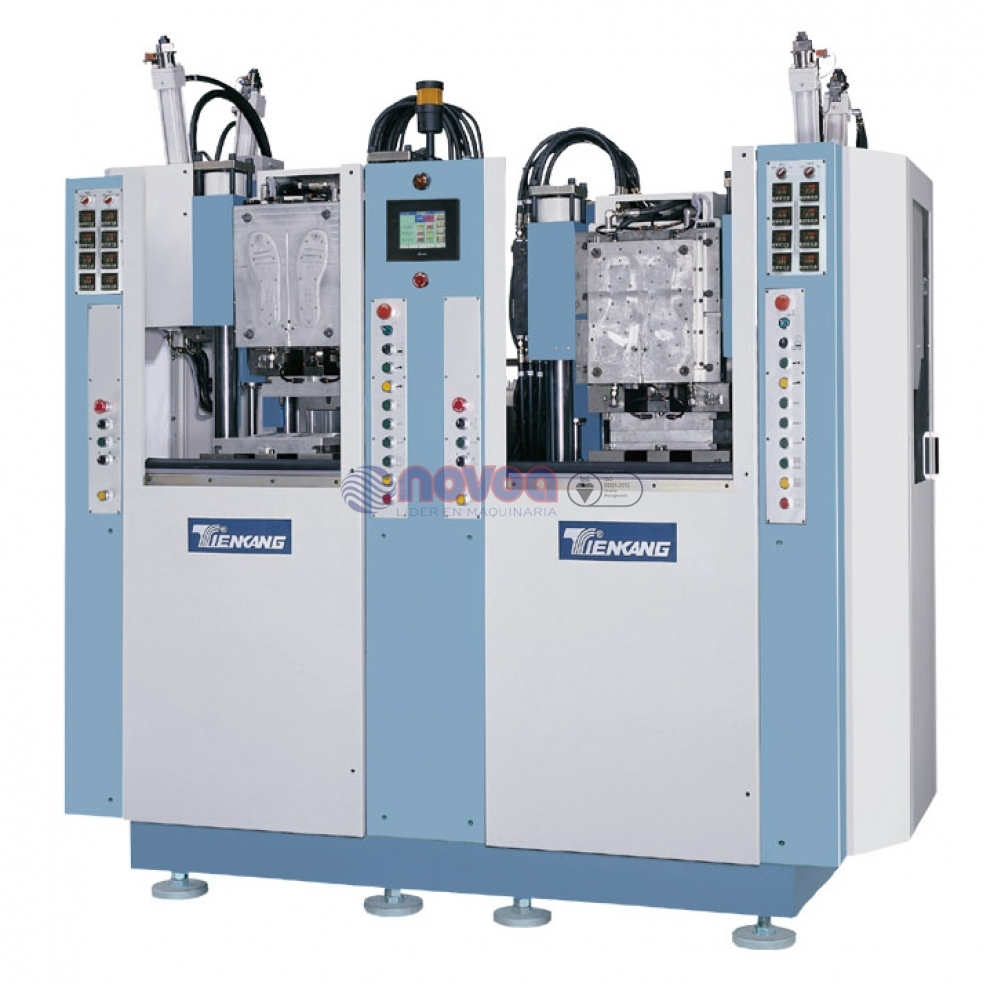Tienkang - Máquina de moldeo por inyección de TR/TPU bicolor de 2 estaciones.