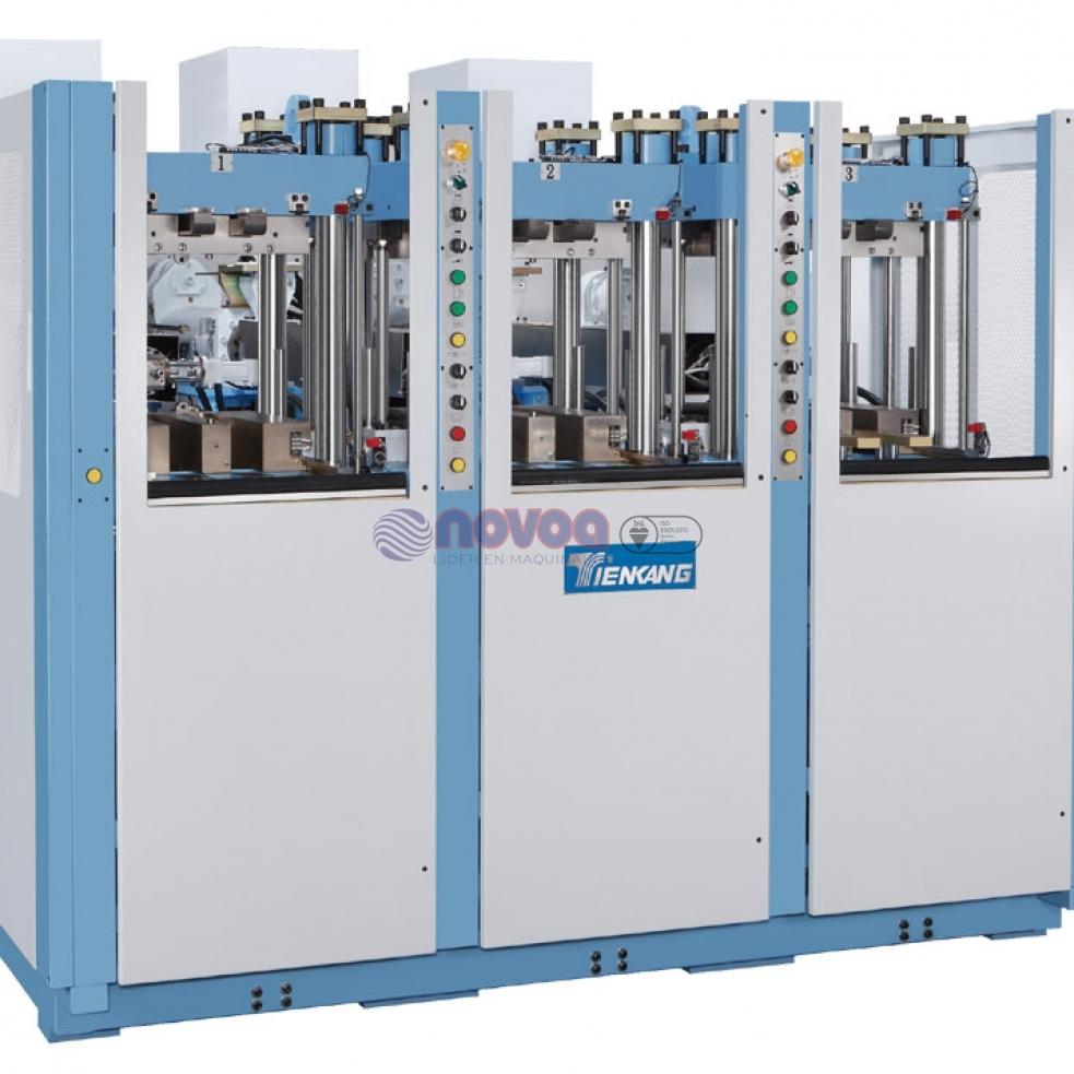 Tienkang - Máquina de moldeo por inyección de TR monocolor, 3 estaciones.