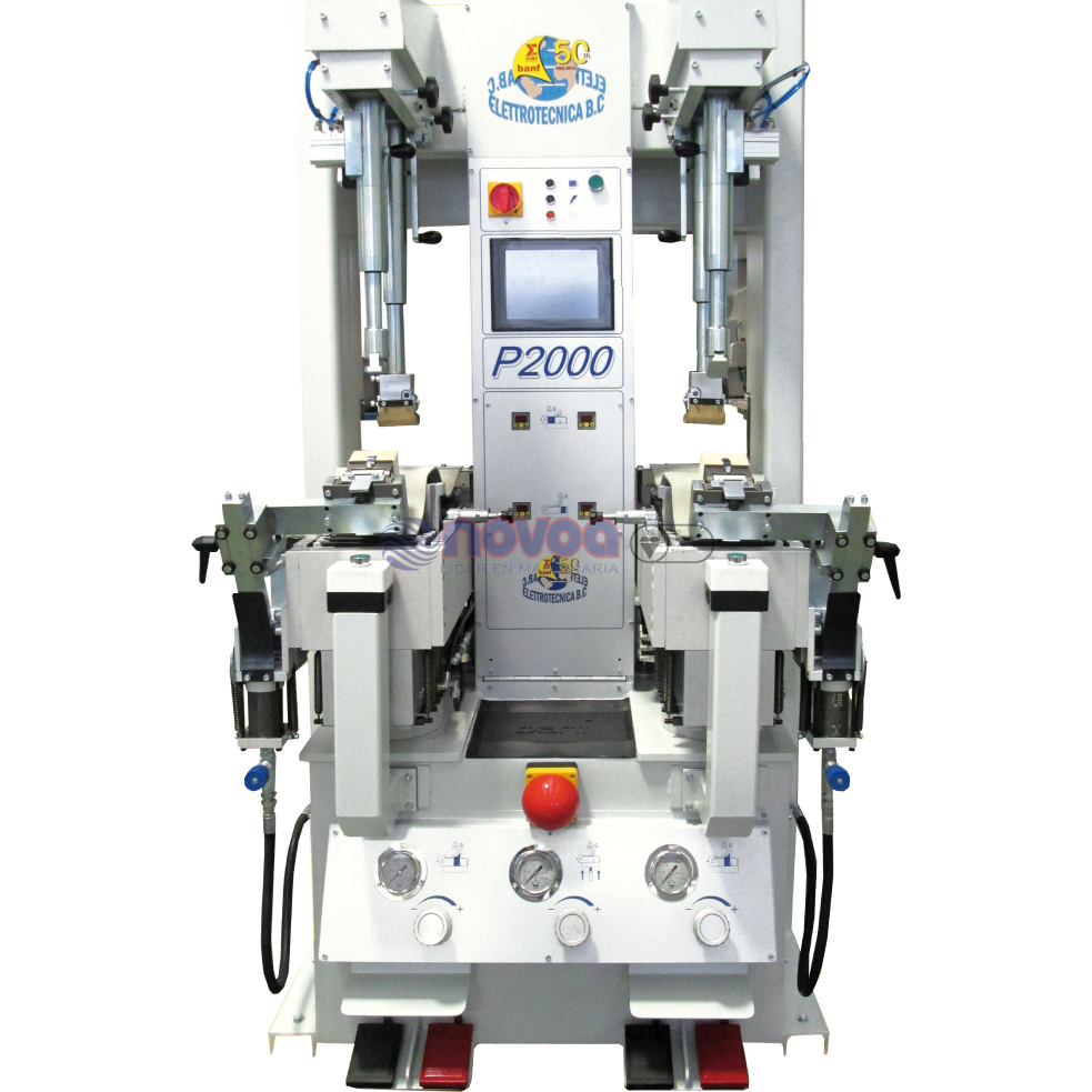 BANF Mod. P2000. Prensa oleodinámica para aplicación de suelas.