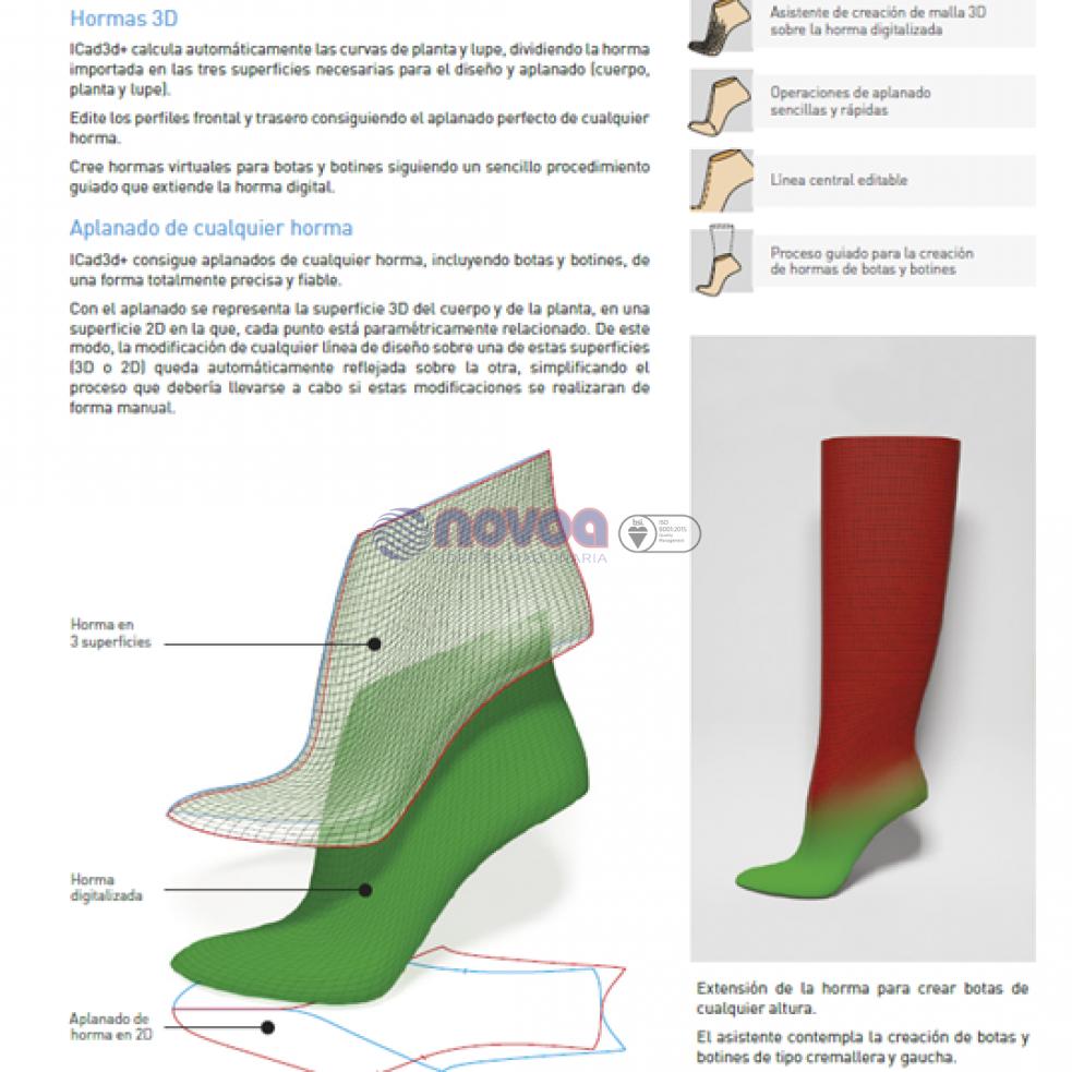ICAD3D+. Software de diseño y patronaje de calzado.