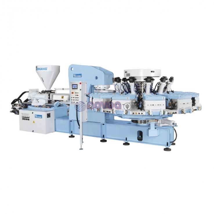 Tienkang. TK-890 SERIES. Máquina rotativa de moldeo por inyección de calzado full plastic monocolor.