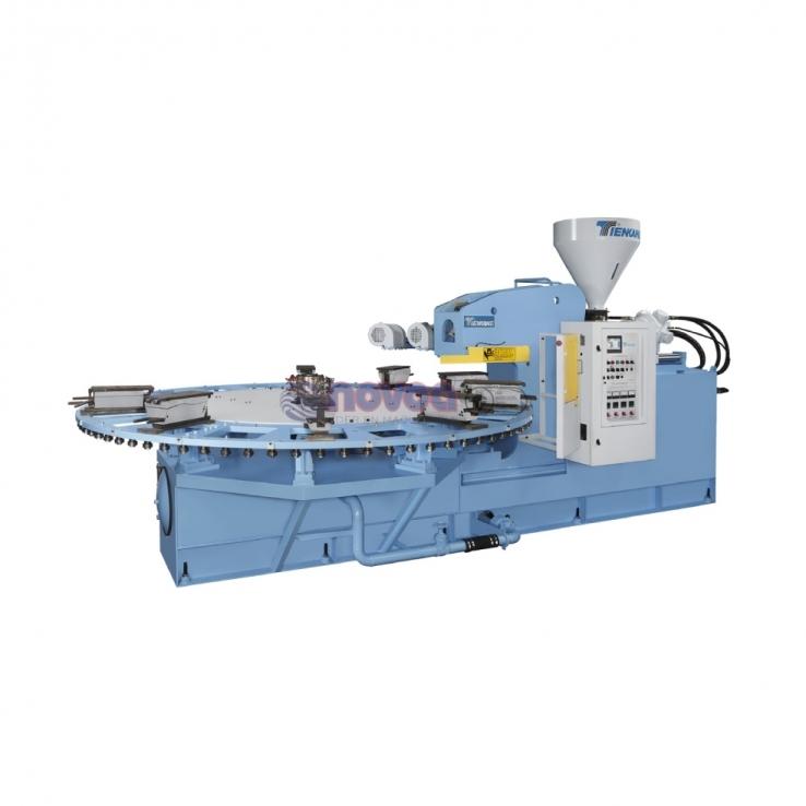 Tienkang 970 SERIES - Máquina rotativa de moldeo por inyección de suela y calzado full plastic monocolor.