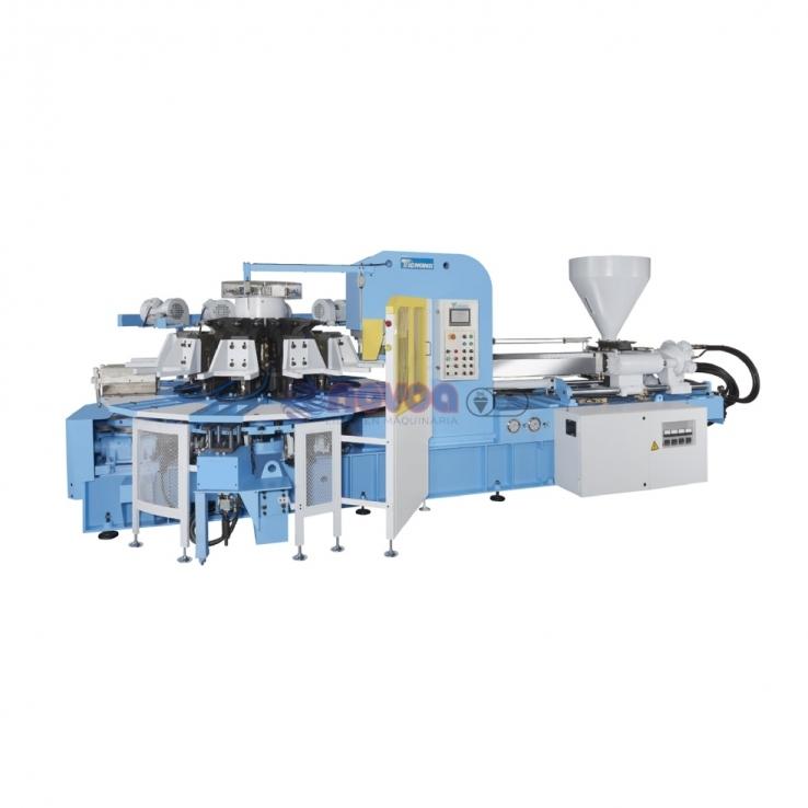 """Tienkang TK-880 SERIES. Máquina rotativa automática de moldeo por inyección directa de calzado """"Full Plastic""""."""