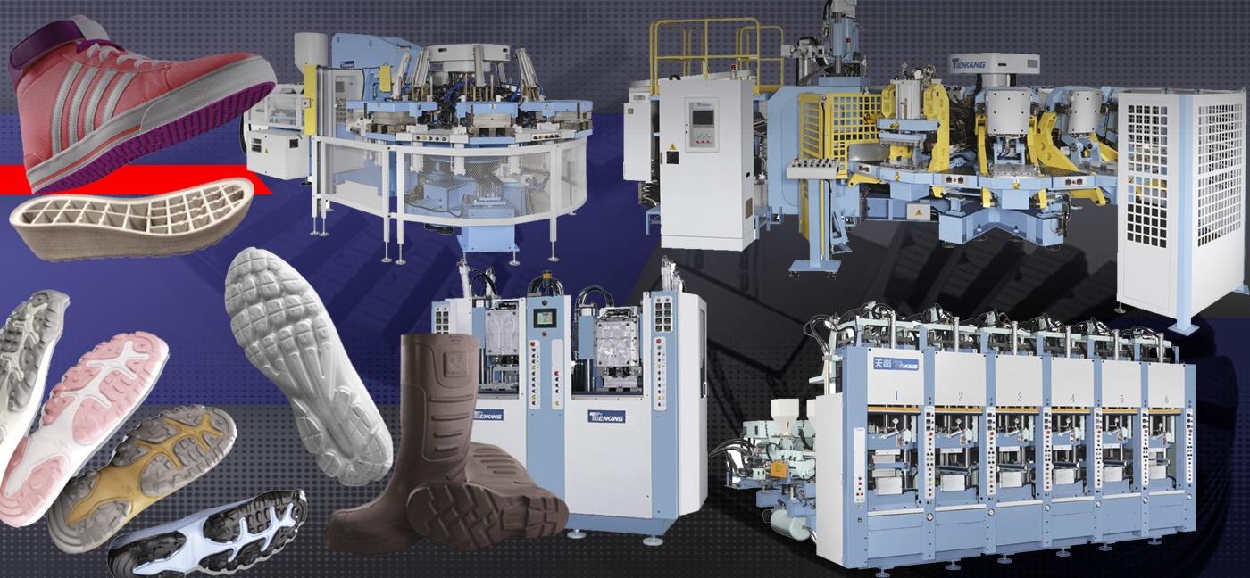 Sistemas de inyección para fabricación de suela.